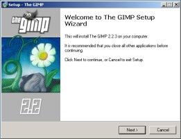 Installation de The Gimp pour Windows